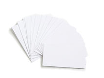 Set of white empty cards. Isolated over white background Royalty Free Stock Images