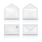 Set of White envelopes. Royalty Free Stock Image