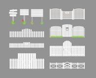 Set of white fences Stock Image