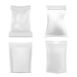 Set of White Foil Packaging Royalty Free Stock Images