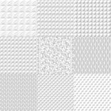 Set white geometric texture. Vector background can be used in cover design, book design, website background, CD cover, advertisi Stock Photography