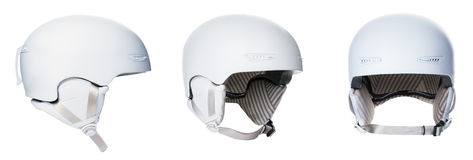Set of white helmets Royalty Free Stock Photo
