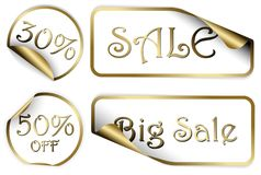 Set of white labels badges and stickers Royalty Free Stock Image