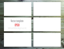 Set of white labels Royalty Free Stock Photos
