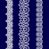 Set of white lace ribbons Royalty Free Stock Images