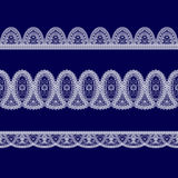 Set of white lace ribbons Royalty Free Stock Photos