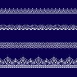 Set of white lace ribbons Royalty Free Stock Photo