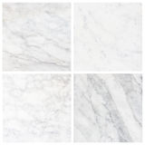Set 4 white marble texture background (High resolution).  Royalty Free Stock Images