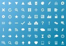 Set of white navigation web icons royalty free illustration
