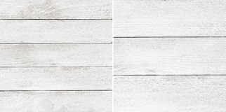 Set white painted wooden planks, tabletop, parquet floor surface. Stock Image