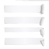 Set of white paper stickers Royalty Free Stock Photography