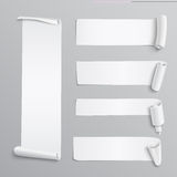 Set of white paper stickers Stock Photos