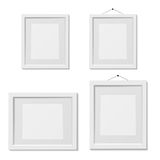 Set of white picture frame template, isolated. Vector illustration Royalty Free Stock Images