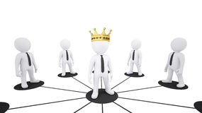 Set of white puppet people Royalty Free Stock Photos