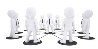 Set of white puppet people Stock Image