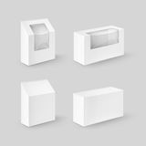 Set of White Rectangle Boxes For Food, Gift Royalty Free Stock Photos