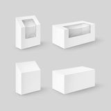 Set of White Rectangle Boxes For Food, Gift Royalty Free Stock Image