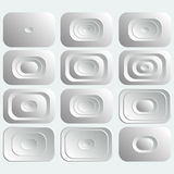Set of white rectangular buttons . Stock Photo