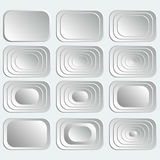 Set of white rectangular buttons . Royalty Free Stock Images