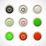 Set of colorful plastic buttons Royalty Free Stock Photo