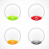 Set of colorful plastic buttons Royalty Free Stock Photos
