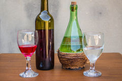 Set of white and red wine Royalty Free Stock Photo