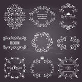 Set of white retro styled ornamental frames Royalty Free Stock Images