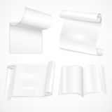 Set of white sheet papers Royalty Free Stock Photography
