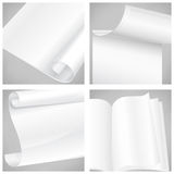 Set of white sheet papers Stock Photo
