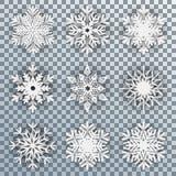 Set white snowflakes - for stock. Set white snowflakes - stock vector vector illustration