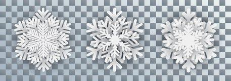 Set white snowflakes - vector. Set white snowflakes - stock vector Vector Illustration