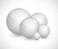 Set of white spheres illustration design Royalty Free Stock Images