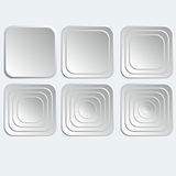 Set of white square buttons . Set of white square buttons  for internet Royalty Free Stock Image