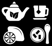 Set white tea objects Stock Images