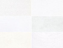 Set of white texture with a pattern. Royalty Free Stock Images