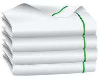 Set of white towel Royalty Free Stock Images