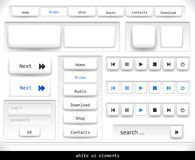 Set of white ui elements Royalty Free Stock Image