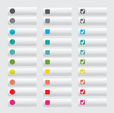 Set of white web buttons Stock Photos