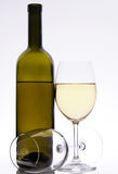 Set of white wine Royalty Free Stock Photography