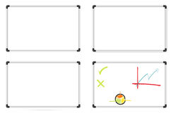 Set of whiteboards Stock Images