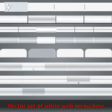 Set of white web menu bars and buttons Royalty Free Stock Photography
