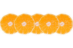 Set whole and sliced mandarines Stock Images