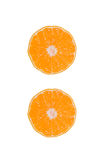 Set whole and sliced mandarines Royalty Free Stock Images