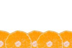 Set whole and sliced mandarines white background. Stock Photo