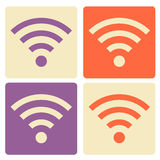 Set of Wi-Fi flat icons. Royalty Free Stock Photos