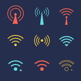 Set of wi fi icons for business or commercial use Royalty Free Stock Photo