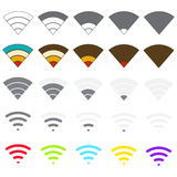 Set of Wi-Fi icons Stock Images