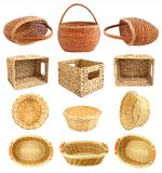 Set of wicker basket Royalty Free Stock Photos