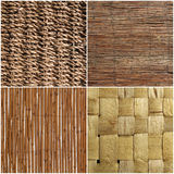 Set of wicker wood texture or background Royalty Free Stock Images