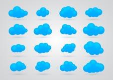 Set wiele Błękitne chmury ilustracji
